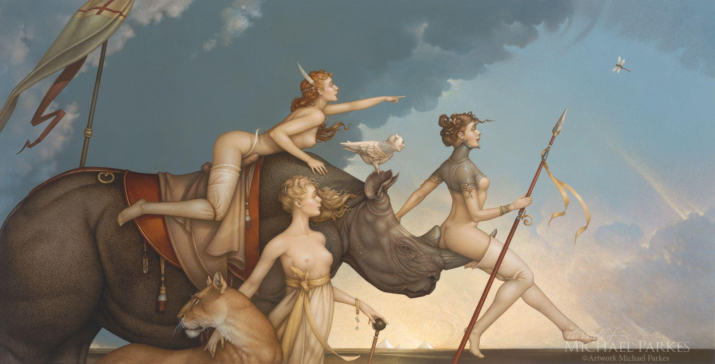 Well-known Michael Parkes Masterworks on Canvas | The World of Michael Parkes VR52